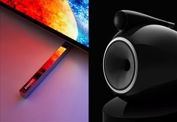 همکاری فیلیپس با B&W و ارتقا سیستم های صوتی تلویزیون