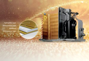 فین طلایی کولر گازی 24000 جی پلاس مدل TM24JN3