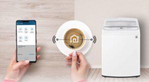 ماشین لباسشویی درب از بالا ال جی با قابلیت هوشمند
