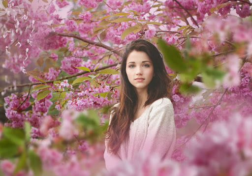 ژست عکاسی در بهار ویژه بانوان