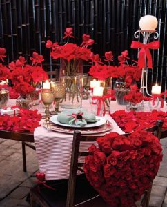 چیدمان میز ولنتاین با عکس فوری