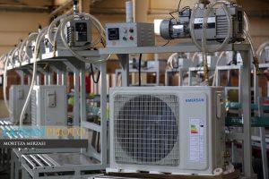 خط تولید کولر گازی امرسان