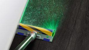 اولین جاروبرقی دایسون با چراغ لیزری