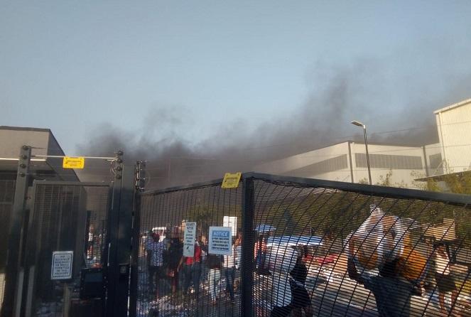 کارخانه تلویزیون ال جی به آتش کشیده شد