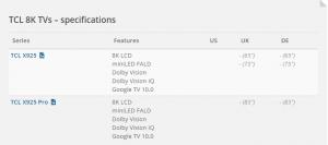 تلویزیون های LCD جدید تی سی ال