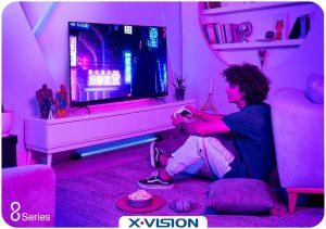 پنل IPS LED در تلویزیون ایکس ویژن سری 8